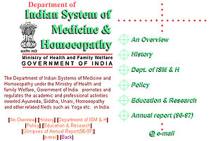 Department of Indian System of Medicine and Homoeopathy